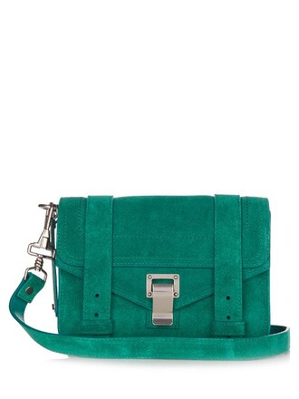 cross mini bag suede green