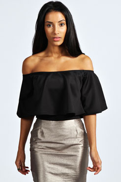 Anisa Frill Crop Swing Top at boohoo.com
