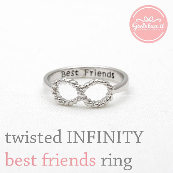 jewels jewelry friendship infinity ring ring best friends forever best friend twisted infinity ring best friends infinity ring