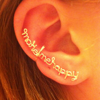 Make Me Happy- Ear cuff. on Wanelo