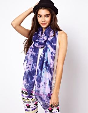 ASOS | ASOS Tie Dye Studded Scarf at ASOS