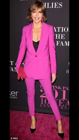 jacket lisa rinna pink suit