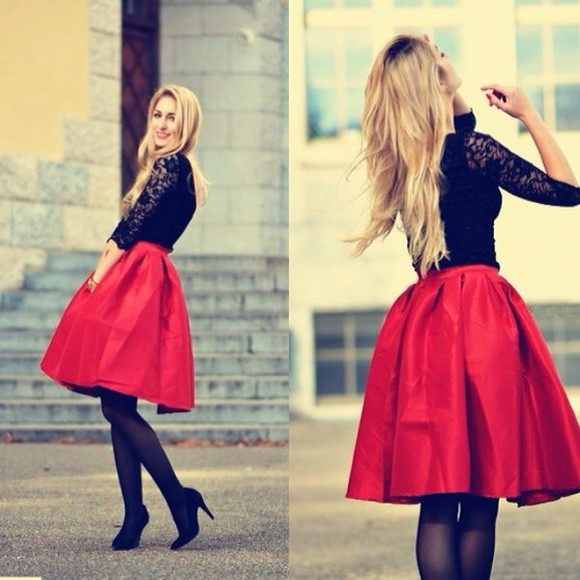 skirt red skirt top, dress, shirt, skirt, maxi skirt, black, crop,