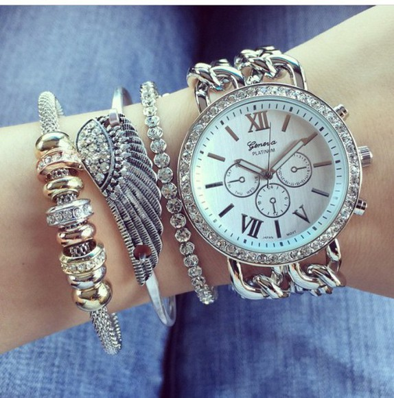 jewels silver jewelry silver watch bracalets