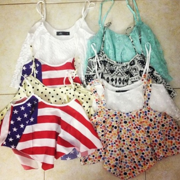 tank top top crop tops summer outfits