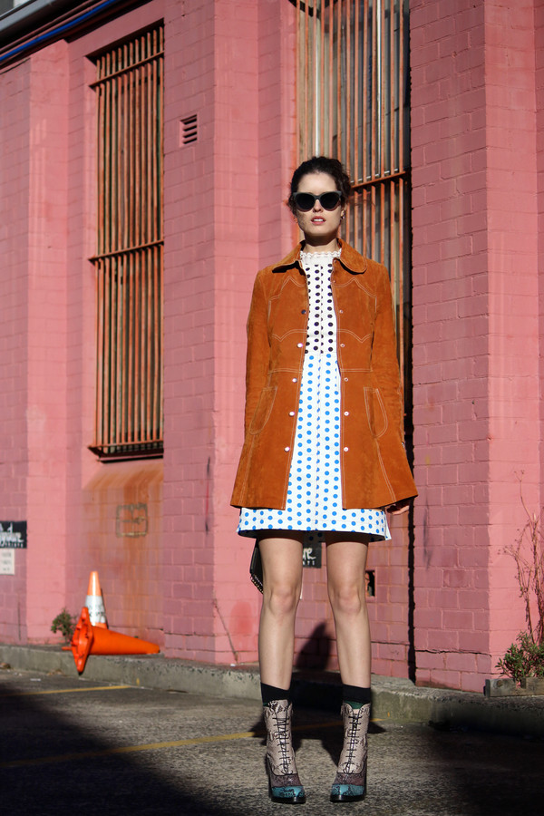 by chill blogger coat dress sweater sunglasses bag socks shoes