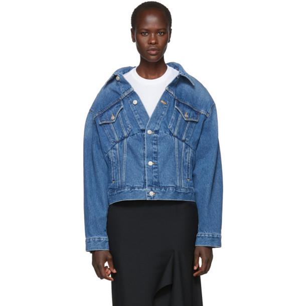 Balenciaga Blue Denim Swing Jacket