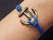 jewels,anchor,charm bracelet,blue