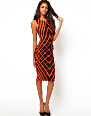 ASOS | ASOS Body-Conscious Dress In Graphic Print. at ASOS