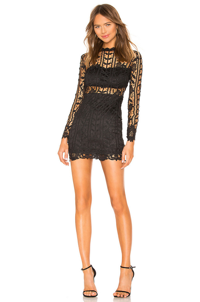 by the way. Destinee Floral Lace Dress in black