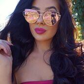 sunglasses,rose,gold,rose gold