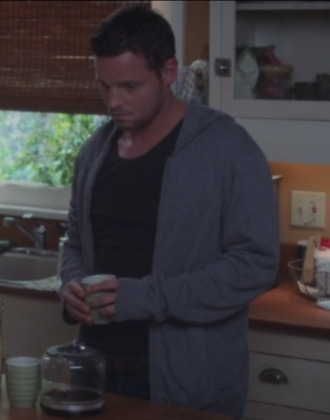 t-shirt grey's anatomy justin chambers menswear grey hoodie