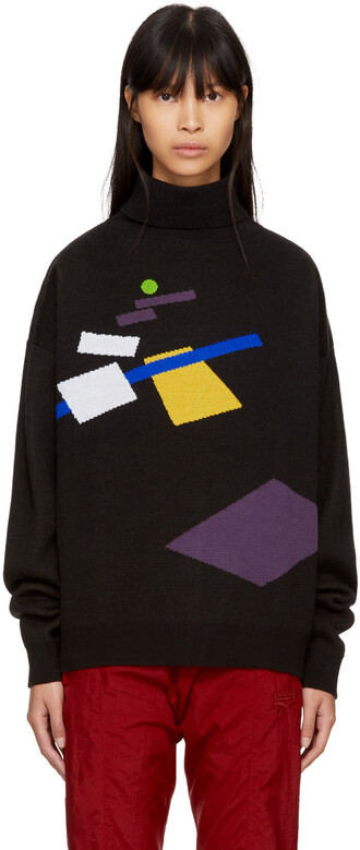 turtleneck black sweater