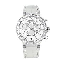 Citra Sphere Chrono - white, silver - Watches - Swarovski Online Shop