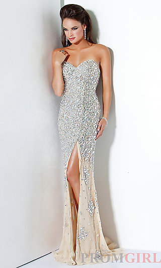 Silver sequin evening gowns, jovani long prom dresses