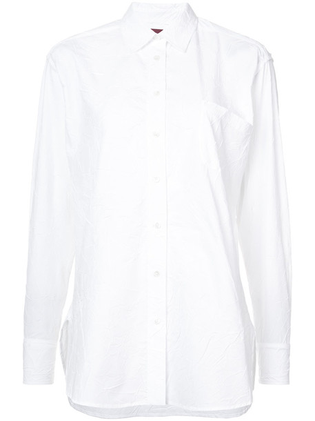 SIES MARJAN shirt women classic white cotton top