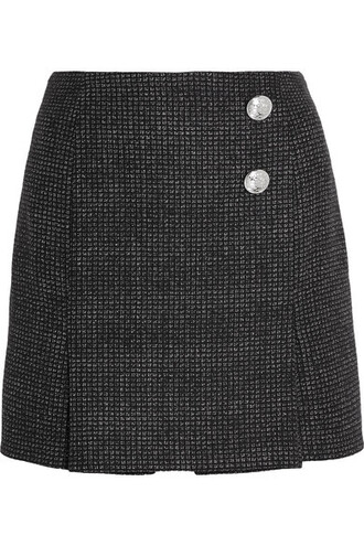 skirt mini skirt mini navy wool