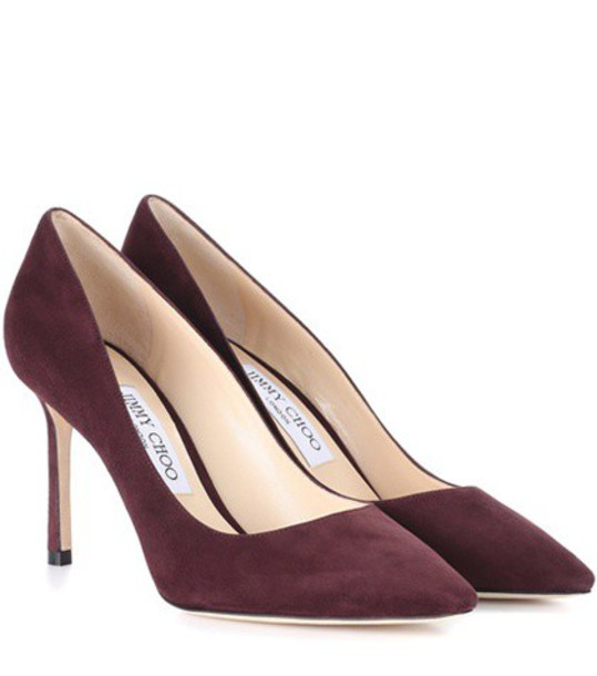 Jimmy Choo suede pumps pumps suede purple shoes