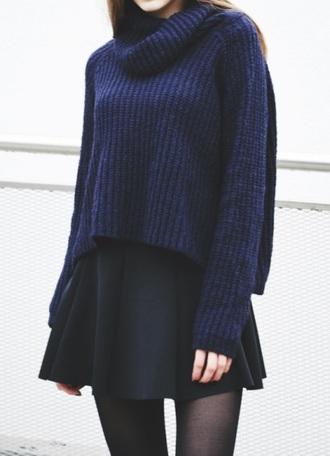 sweater dak sweater jumper autum black blue pajamas