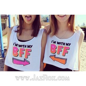 tank top summer best friends top matching best friend shirts bff fashion cool trendy tumblr girly summer outfits style lookbook bestfriend shirt