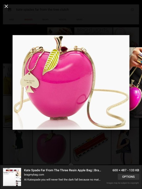 bag kate spades far from the tree apple clutch