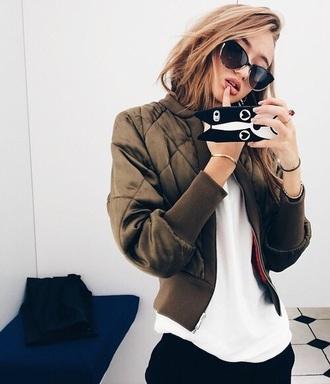jacket coat green girl