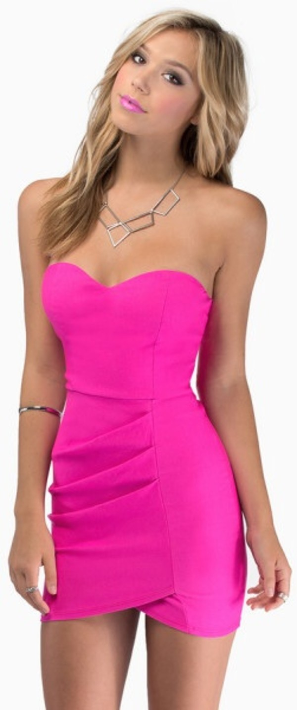 dress hot pink tobi mini dress