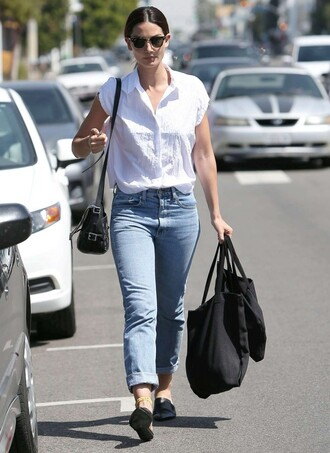 shirt denim model model off-duty lily aldridge spring outfits spring jeans