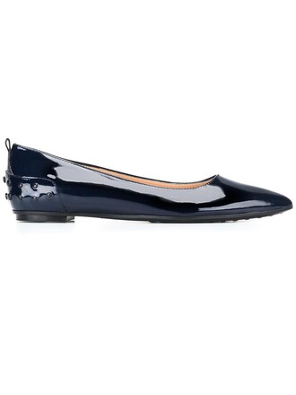 women shoes leather blue