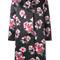 Msgm - flower print coat - women - polyester - 44, black, polyester