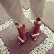shoes,gold,white,summer,sandal heels