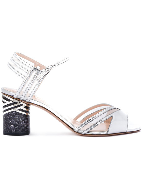 Nicholas Kirkwood women sandals leather grey metallic shoes