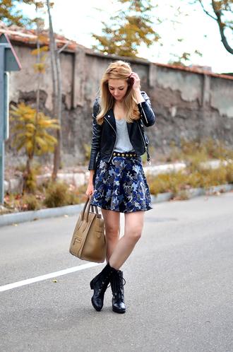 oh my vogue jacket t-shirt skirt belt shoes bag jewels