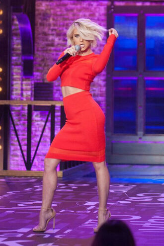 top skirt pencil skirt crop tops red dress julianne hough
