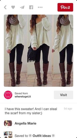 sweater baggy sweaters oversized sweater cream cream sweater