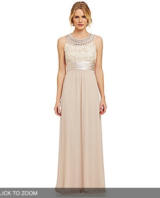 dress prom dress long dress gold dress ivory dress
