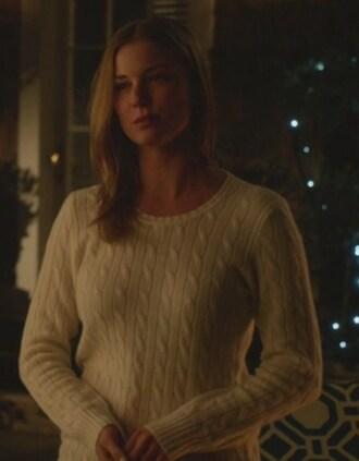 sweater revenge amanda clark emily thorne emily vancamp cashmere crewneck