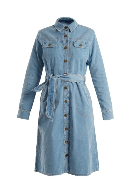 M.i.h Jeans dress cotton light blue light blue