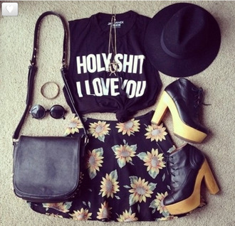 shorts top quote on it t-shirt tank top cotton shorts sunflower monochrome shirt shirt hat