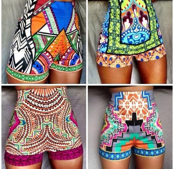 printed shorts shorts african print