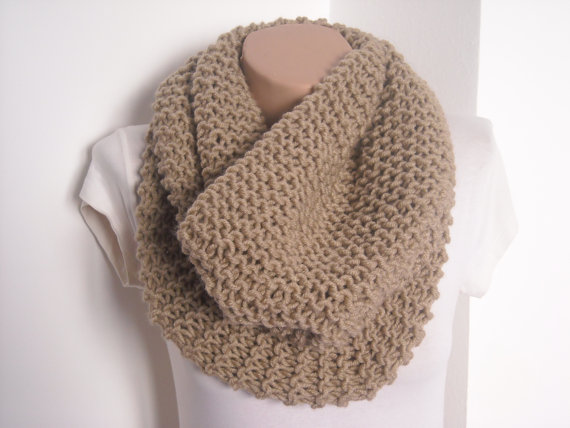 Knit scarf / knitted scarf/beige scarf/ beige knit by AYTULGIFT