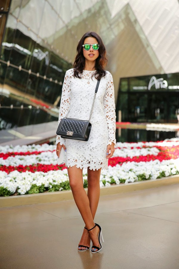viva luxury dress shoes bag sunglasses jewels lace crochet white summer long long-sleeves midiskirt