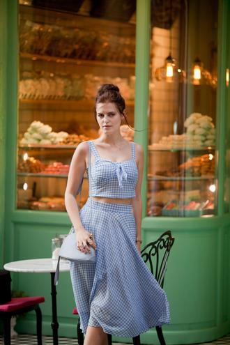 the bow-tie blogger bag shoes shoulder bag blue dress