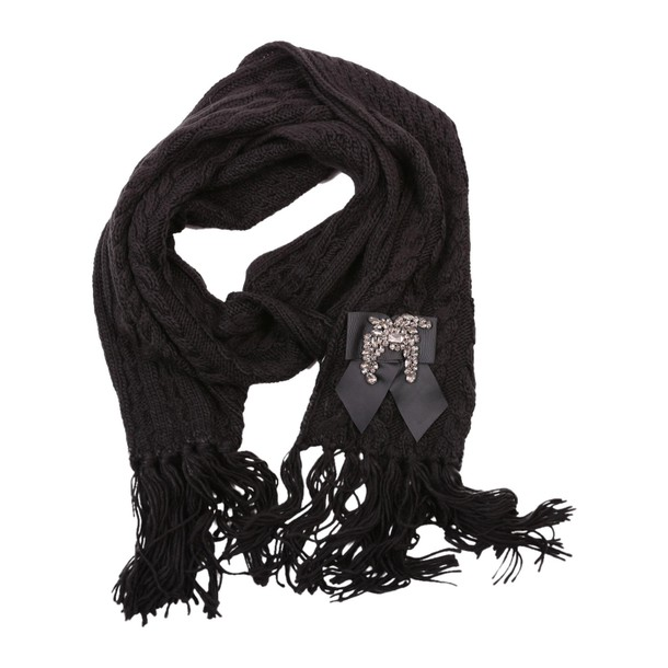 scarf knit black