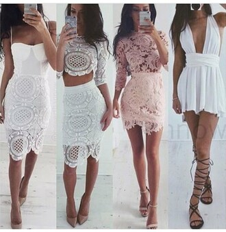 white dress lace dress crop tops lace top lace skirt pink dress salmon lace up flats nude heels sandals crochet crochet dress lace bodycon bodycon dress party dress sexy party dresses white sexy sexy dress party outfits sexy outfit summer dress summer outfits spring dress spring outfits pool party fall dress fall outfits classy dress elegant dress cocktail dress date outfit cute cute dress girly girly dress birthday dress summer holidays romantic romantic dress romantic summer dress clubwear club dress wedding dress wedding clothes wedding guest graduation dress celebrity style dope