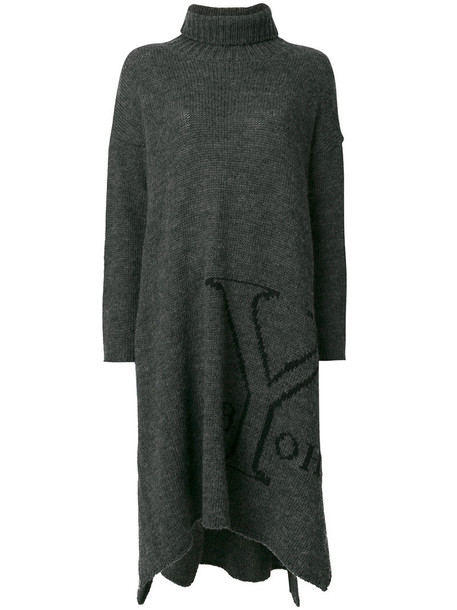 dress sweater dress women wool grey