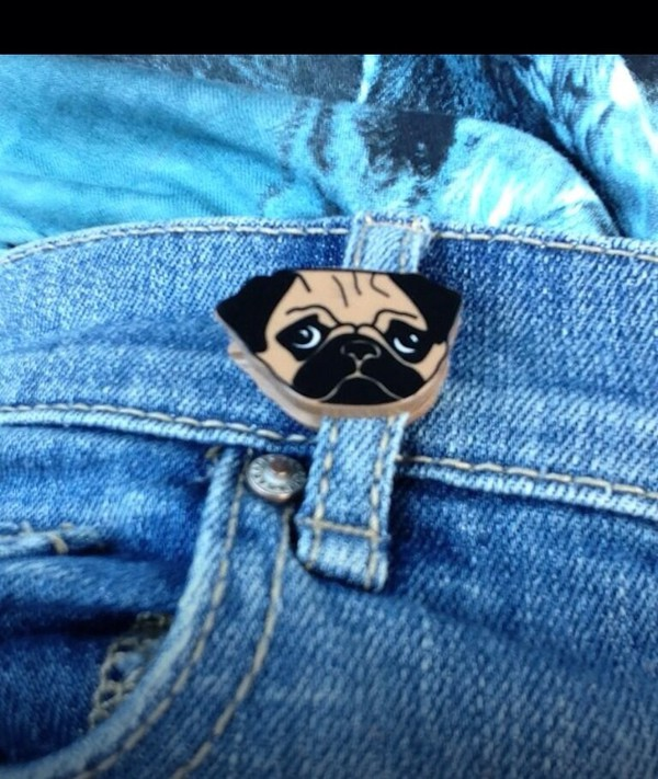 belt belt clip belt loop clip loop clip pugs pugs pug pocket pug lover pug life grunge quirky quirky jewellery unique item cute lovely