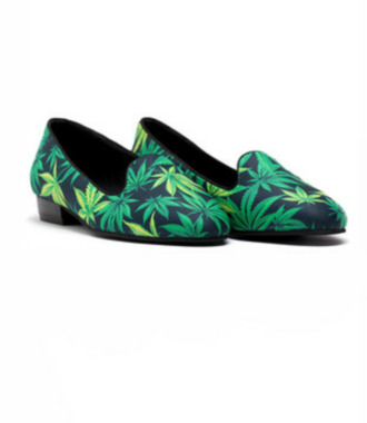 weed marijuana shoes loafers smoking slippers