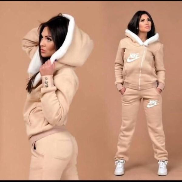 jacket nike nike jacket nike sweatpants sweats jumpsuit hoodie tan tan jacket tan sweats nike sweatpants nike hoodie nude winter outfits sweatpants