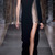 One Sleeve Bonded Crepe And Macrame Grommet Gown by Anthony Vaccarello - Moda Operandi